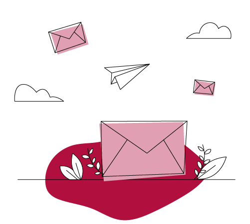 Illustration Newsletter wird versendet