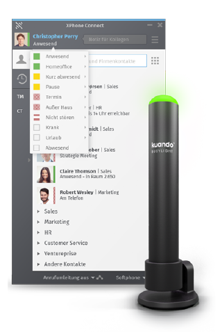 Grafik Unified Communication C4B busylight | XPhone